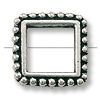 Bead Frame - Square 8mm Pewter Antique Silver Plated (1-Pc)