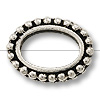 Bead Frame - Oval 6x9mm Pewter Antique Silver Plated (1-Pc)
