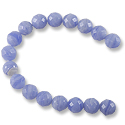 Synthetic Blue Lace Agate Faceted 8mm (16