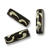 Batik Bone Beads Yin Yang Tube 25x8mm (10-Pcs)