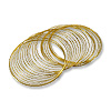 Round Large Bracelet Memory Wire Gold Plated Steel 1/2oz.