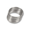 Round Bracelet Memory Wire Bright Stainless Steel 1oz.