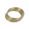 Round Large Bracelet Memory Wire Harvest Gold Stainless Steel 1oz.