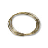 Round Large Bracelet Memory Wire Harvest Gold Stainless Steel 1/4oz.