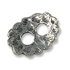 Button - 2-Hole 11x9mm Pewter Antique Silver Plated (1-Pc)