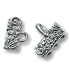 Hook & Eye Clasp - 3-Strand Flower 20mm Pewter Silver Plated (Set)