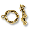 Toggle Clasp - Cherry 16mm Pewter Antique Gold Plated (Set)