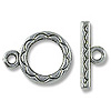 12mm Silver Plated Toggle Clasp (1-Pc)