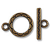 12mm Antique Copper Plated Toggle Clasp (1-Pc)