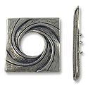 Toggle Clasp - 29x28mm Pewter Antique Silver Plated (Set)