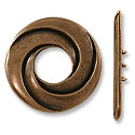 Toggle Clasp - 34mm 3-Strand Pewter Antique Copper Plated (Set)