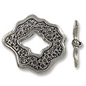 Toggle Clasp - 30x27mm Pewter Antique Silver Plated (Set)