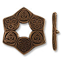 Toggle Clasp - 28mm Pewter Antique Copper Plated (Set)