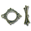 Toggle Clasp - 18x20.5mm Pewter Antique Silver Plated (Set)