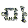 Toggle Clasp - 17x21mm Pewter Antique Silver Plated (Set)