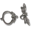 Toggle Clasp - Dragonfly 24x31mm Pewter Antique Silver Plated (Set)
