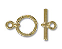 11mm Gold Plated Toggle Clasp (Set)