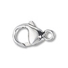 Lobster  Clasp w/Soldered Closed Ring 13.5x7mm Sterling Silver (1-Pc)