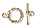 14mm Gold Plated Toggle Clasp (Set)