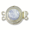 Designer Clasp 2 Strand Rainbow Moonstone Sterling Silver Filled (1-Pc)