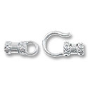 Hook and Eye Clasp 21x8mm Sterling Silver (Set)