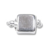 Pearl Clasp Square 8mm Sterling Silver (1-Pc)