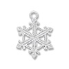 Charm - Snowflake 17x15.5mm Pewter Hand Painted (1-Pc)