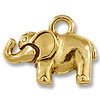 Charm - Elephant 11x19mm Pewter Antique Gold Plated (1-Pc)