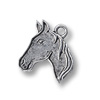 Charm - Horse Head Profile 19x15mm Pewter Antique Silver Plated (1-Pc)