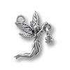 Charm - Fairy with Star 20x16mm Pewter Antique Silver Plated (1-Pc)