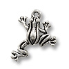 Charm - Leap Frog 17x16mm Pewter Antique Silver Plated (1-Pc)
