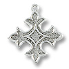 18mm Silver Plated Fleur de Lis Charm (1-Pc)