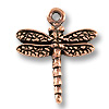 Charm - Dragonfly 16mm Pewter Antique Copper Plated (1-Pc)