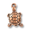 Charm - Turtle Drop 18x11mm Pewter Antique Copper Plated (1-Pc)