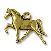 Charm - Horse 16x22mm Pewter Antique Gold Plated (1-Pc)