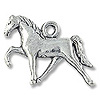 Charm - Horse 16x22mm Pewter Antique Silver Plated (1-Pc)