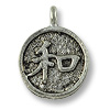 Charm - Chinese Harmony 12mm Pewter Antique Silver Plated (1-Pc)