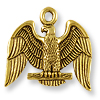 Charm - American Eagle 17x20mm Pewter Antique Gold Plated (1-Pc)