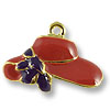 Charm - Red Hat 16x22mm Pewter Antique Gold Plated (1-Pc)