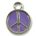 Charm - Peace 11mm Pewter Antique Silver Plated (1-Pc)