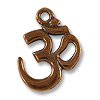 Charm - Om 14x18mm Pewter Antique Copper Plated (1-Pc)