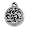 Charm - Tree of Life 16mm Pewter Antique Silver Plated (1-Pc)