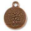 Charm - Tree of Life 16mm Pewter Antique Copper Plated (1-Pc)