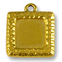 Charm - Picture Frame 19mm Antique Gold Plated (1-Pc)