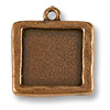 Charm - Picture Frame 21x21mm Pewter Antique Copper Plated (1-Pc)