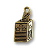10x21mm Antique Gold Plated Voting Box Pewter Charm (1-Pc)