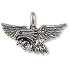 Charm - Eagle 16x25mm Pewter Antique Silver Plated (1-Pc)
