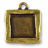 Charm - Picture Frame 19mm Antique Brass Plated (1-Pc)