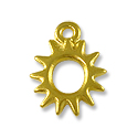 Charm - Radiant Sun 11mm Pewter Bright Gold Plated (1-Pc)