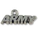Charm - Army 8x20mm Antique Silver Plated (1-Pc)